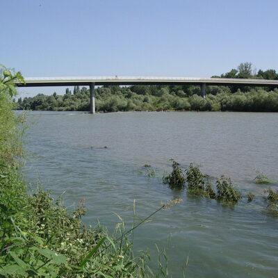 Pont sur le Rhin Fessenheim (F) et Hartheim (D)