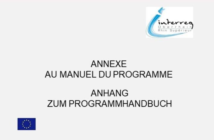 Annexe au manuel du programme mise à jour