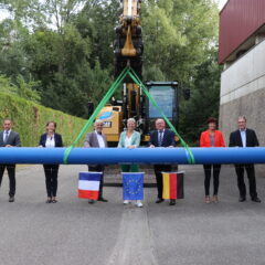 Nouvelle canalisation transfrontalière au nord du Rhin Supérieur
