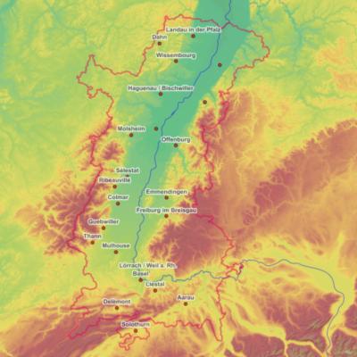 GeoRhena : Un centre de compétences d'information géographique appuyé par un Géoportail