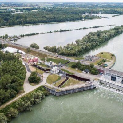 PK309 : Traversée sécurisée du Rhin pour cyclistes et piétons entre Gambsheim et Rheinau